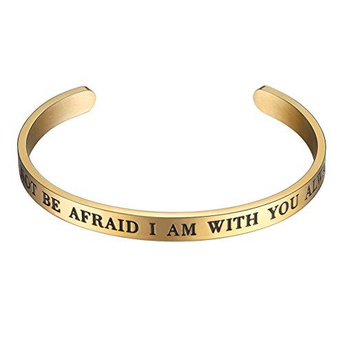 PROSTEEL Cuff Bracelet,Bangle,Do Not Be Afraid I Am