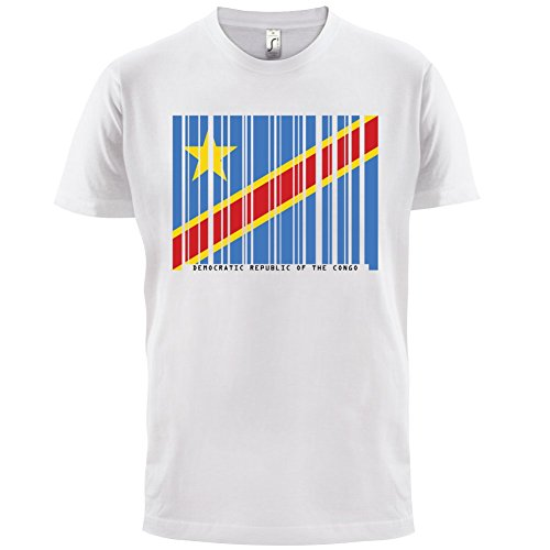 Democratic Republic of the Congo / Demokratische Republik Kongo Barcode Flagge - Herren T-Shirt - Weiß - S