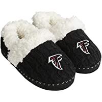 $29 » FOCO NFL Womens Team Color Faux Fur Logo Moccasin Slippers