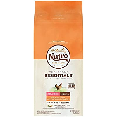 Nutro Small Breed Adult Farm Raised Chicken, Brown Rice, And Sweet Potato Recipe, (5 Lbs)