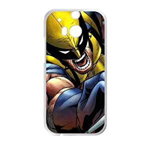 HTC One M8 White Cell Phone Case Wolverine TXBY3933
