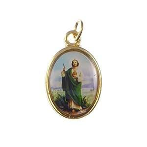Medalla para rosario - Imagen de San Judas - Dorada, 20 mm