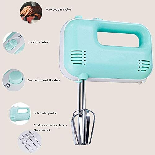 Electric Hand Mixer Handheld Blender Whisk 120W 3 Speed 2 gardes en 2 kneedhaken for Kitchen Baking Cake Mini Egg Cream Eten Beater