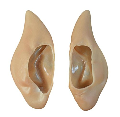 Rukiwa 1Pair Pointed Fairy Elf Cosplay Halloween Costume Ear Tips (Wicked Witch Fancy Dress)