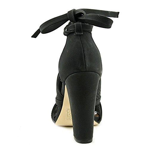 Noem Het Lente Dames Rounkles Peep Toe Speciale Gelegenheid Enkelbandje Sandalen Zwart