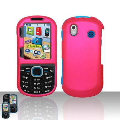 - Importer520 Rubberized Snap-On Hard Skin Protector Case Cover for For (Verizon) Samsung Intensity 2 U460 - Rose Pink