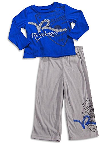 Rocawear - Little Boys Long Sleeve Pajamas, Royal Blue, Grey 28214-3T
