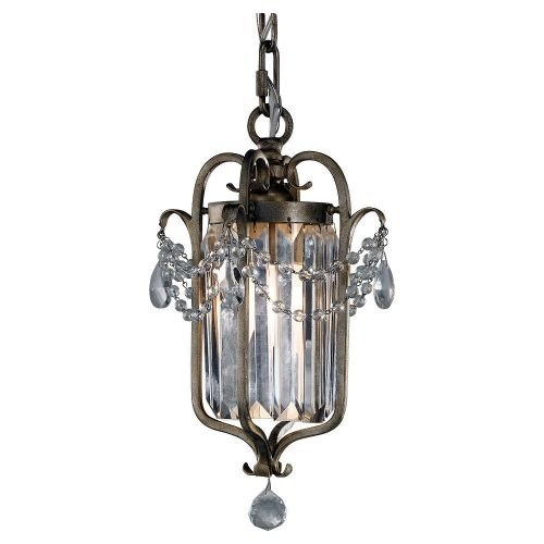 Feiss F2474/1GS Gianna Collection 1-Light Mini Duo Chandelier, Gilded Silver Finish with Hand Polished Crystal
