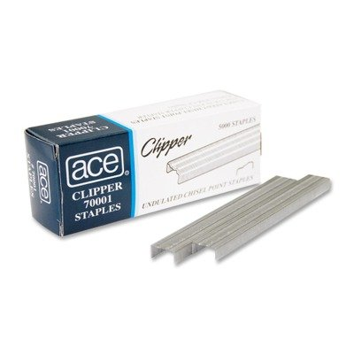 ACE70001 - ACE FASTENER Undulated Staples for Lightweight Clipper Stapler Advantus Corp