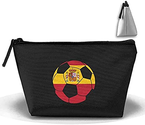 Bolso cosmético Bolsa de embrague de fútbol de España Bolsa de bolsa portátil: Amazon.es: Belleza