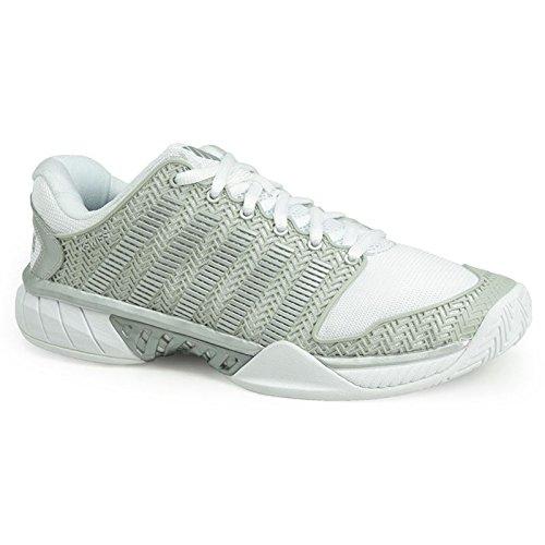 K-Swiss Women's Hypercourt Express Tennis Shoes (White/Silver) (8.5 B(M) US) by K-Swiss