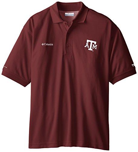 NCAA Texas A&M Aggies Collegiate Perfect Cast Polo Shirt, Maroon, XX-Large - Texas Tailgate Golf