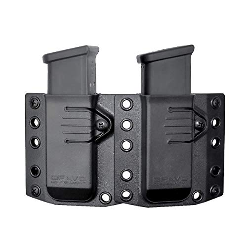 Bravo Concealment: 3.0 Double Magazine Pouch for Glock 19 23 32