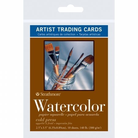 Pro-Art 105904 Strathmore Artist Trading Cards 2.5X3.5 10/Pkg-Watercolor Cold (Watercolor Art Card)
