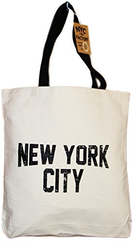 NYC Tote Bag Canvas Distressed New York City Gift Souvenir B