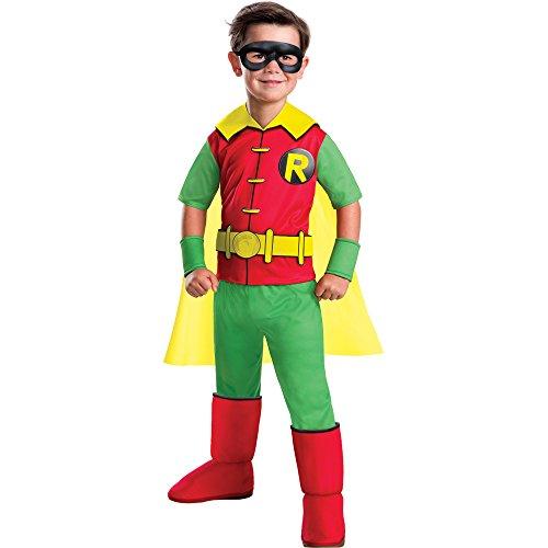 Rubie's Costume Boys DC Comics Deluxe Robin Costume, Small, -