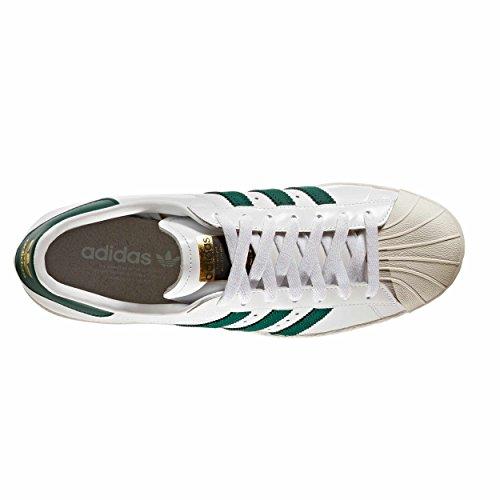 Blancas Blancas Blancas Mujer Verdes Zapatillas White Superstar De Franjas Adidas YnIqwUtxS