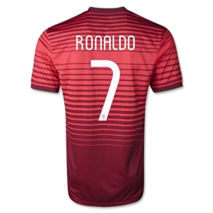 151a92c091a Amazon.com   Nike Cristiano Ronaldo  7 Portugal 2014 FIFA World Cup Brazil  Large Red Striped Home Soccer Jersey   Sports   Outdoors