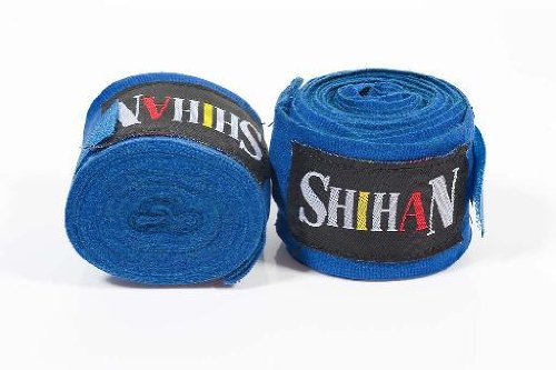 Boxing Hand Wraps - 'SHIHAN- MAX' BLUE - PAIR