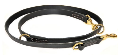 Dean and Tyler Simple Pleasure Dog Leash, Black 7-Feet by 3/4-Inch Width With Solid Brass Hardware., My Pet Supplies