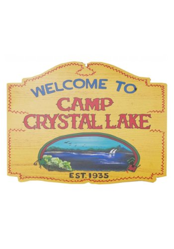 Morbid Enterprises Camp Crystal Lake Sign, Multi-Color, One Size