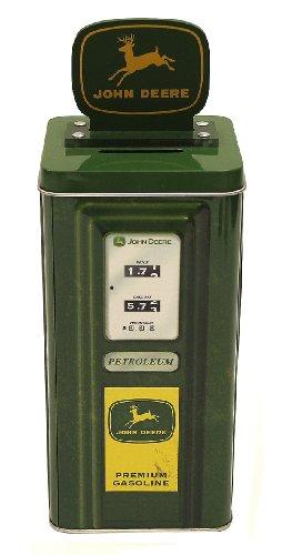 The Tin Box Company 861907-12 John Deere Vintage Gasonline Pump Tin Bank