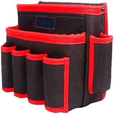 耐久性工具バッグ パワーツールバッグ多機能ツール収納袋主催ストレージウエストパック 工具収納&仕分け管理&運搬用 (色 : Black, Size : One size)