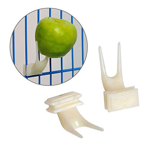 Taynafy plastica mangiatoia per uccelli, frutta forcella Install Cage accessori del piccione Parrot food Supplies Feeding