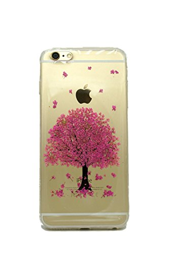 iPhone 6 6s Case, Shopping_Shop2000® Handmade Sakura Tree Floral Real Pressed Dried Flowers TPU Gel Rubber Skin Silicone Protective Plastic Soft Phone Case for iphone 6 6s 4.7