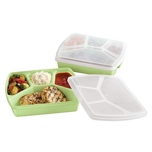 Microwavable Food Containers Set, Dishwasher Safe Food Storage Containers with Lids, 2 pc