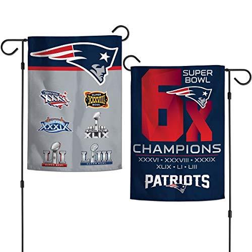 - New England Patriots 6X Super Bowl Champions Garden Flag 12.5