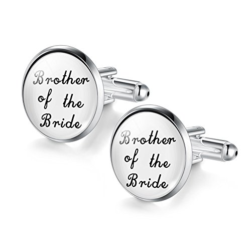 JIAYIQI Weddings Cufflinks Brother of The Bride Cufflinks Gifts for Men