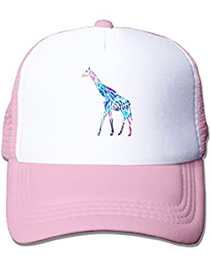 Crazy Cool Giraffe Mesh Baseball Cap Adjustable Trucker Hat for Men Women