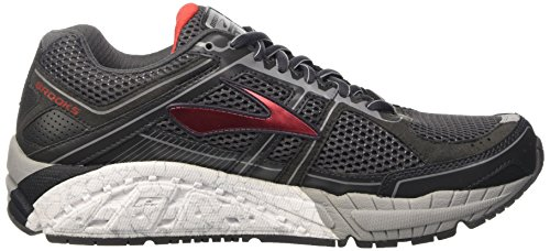 Brooks Sucht 12 Anthrazit / High Risk Rot / Silber