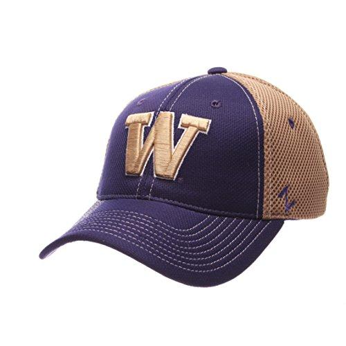 Zephyr NCAA Washington Huskies Men's Rally Z-Fit Cap, Medium/Large, Purple/Vegas