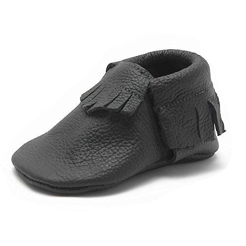Sayoyo Quasten WeichesLeder Baby Schuhe Kleinkinder Mädchen Junge Schuhe 18-24 Monate