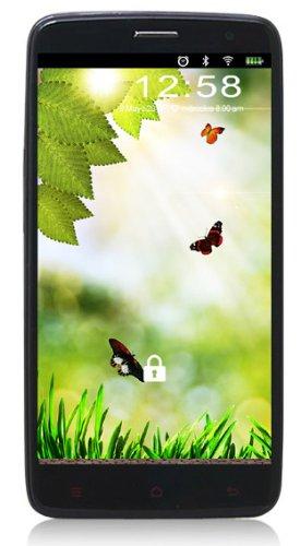 Miomundo - SmartPhone 500N/6589 Negro. Pantalla 5' con Resolucion 480x854 px. Quad Core 1.2GHz. Android 4.2. Dual SIM. Móvil Libre. Cámara 12 Mpx. Color Negro.