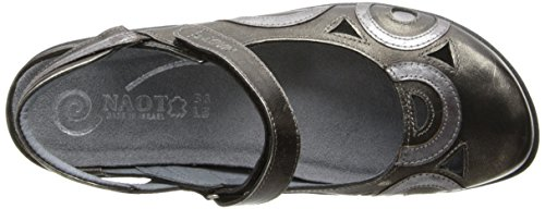 Naot Womens Rongo Leather Sandals Mirror Metal