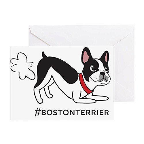CafePress - Boston Terrier Fart Problems - Greeting Card, Note Card, Birthday Card, Blank Inside Matte - Terrier Birthday Card