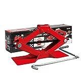Torin T10152 Big Red Steel Scissor Jack, 1.5 Ton (3,000 lb) Capacity