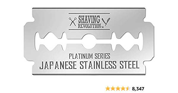 50 Count Double Edge Razor Blades - Men's Safety Razor Blades for Shaving - Platinum Japanese Stainless Steel Double Razor Shaving Blades for Men for a Smooth, Precise and Clean Shave