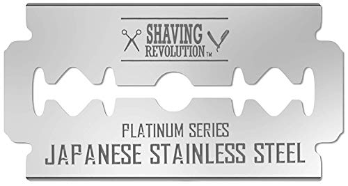 (Double Edge Razor Blades - Men´s Safety Razor Blades for Shaving - Platinum Japanese Stainless Steel Double Razor Shaving Blades for Men for a Smooth, Precise and Clean Shave - 50 Count)