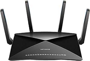 NETGEAR Nighthawk X10 – AD7200 802.11ac/ad Quad-Stream MU-MIMO WiFi Router with 1.7GHz Quad-core Processor & Plex Media Server (R9000-100NAS) Compatible with Amazon Echo/Alexa