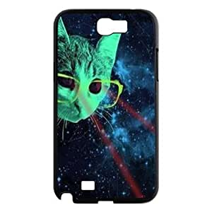 Galaxy Hipster Cat Personalized Cover Case for Samsung Galaxy Note 2 N7100,customized phone case ygtg550618 by lolosakes