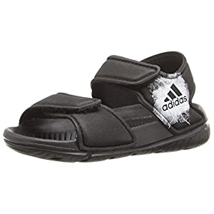 adidas Performance Boys' Altaswim I Sandal, Black/White/Black, 6 M US Toddler