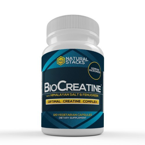 BioCreatine - Optimal Creatine Complex with Fenugreek Extract and Pink Himalayan Salt for Maximum Absorption - German Micronized Creatine - No Bloating - Adds Neuroprotection - Increased Lean Muscle Mass - 120 Capsules