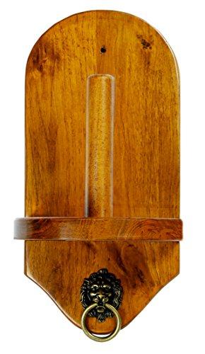 (Iszy Billiards Wall Mount Pool Table Cone Chalk Holder, Oak Finish)