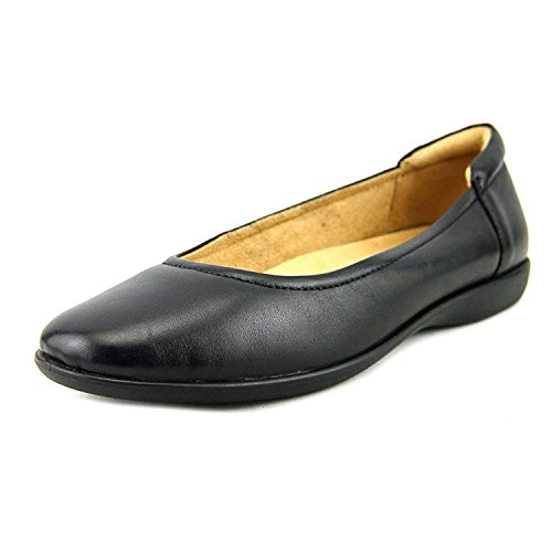 Naturalizer Women's Flexy Ballet Flat, Black, 8.5 M US