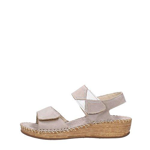 Saxo pelle liscia Grunland donna sandali Grigio 4wqwaEZC