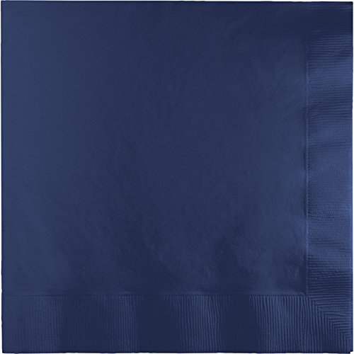 150-Count Touch of Color Paper Lunch Napkins, Navy Blue (Dinner Napkin Folds)
